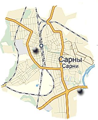 Карта ПТНЗ м. Сарни